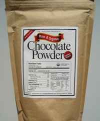 Organic raw chocolate powder